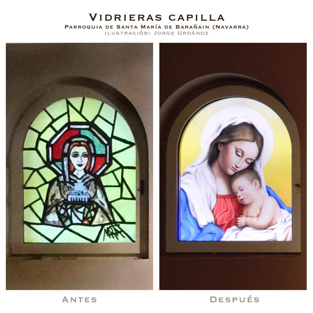 Comparativa-vidrieras-parroquia-baranain